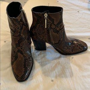 Zara snakeskin ankle boots size 36